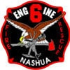 Engine 6 Fire Engine Nashua Decal