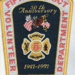 Fifth District Volunteer Fire Department 50th Anniversary Patch