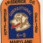Frederick County Maryland Sheriff's Office Correctional K-9 Patch