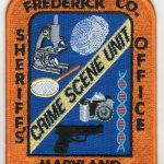 Frederick County Maryland Sheriff's Office Crime Scene Unit Patch