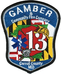 Gamber & Community Fire Company Carroll County MD Decal 1