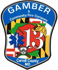 Gamber & Community Fire Company Carroll County MD Decal 2