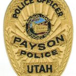 Payson Utah Police Officer Badge Patch