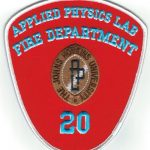 The Johns Hopkins University Applied Physics Lab Fire Department 20 Patch