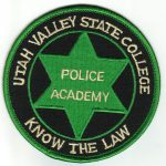 Utah Valley State College Police Academy Patch