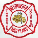 Westminster Maryland Fire Engine Hose Company Number 1 Patch